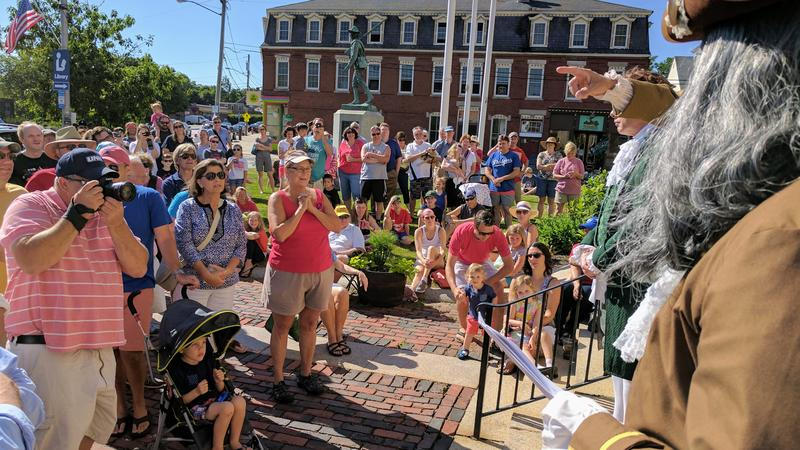 A crowd of over 200 gathered to hear the Declaration of Independence read aloud.