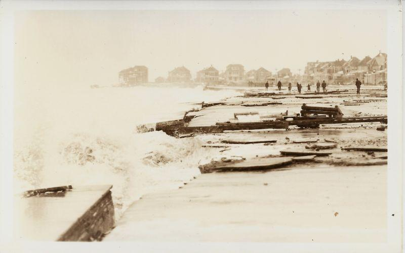 Storm damage like this eventually convinced the town of Hampton to give the beach to the state.