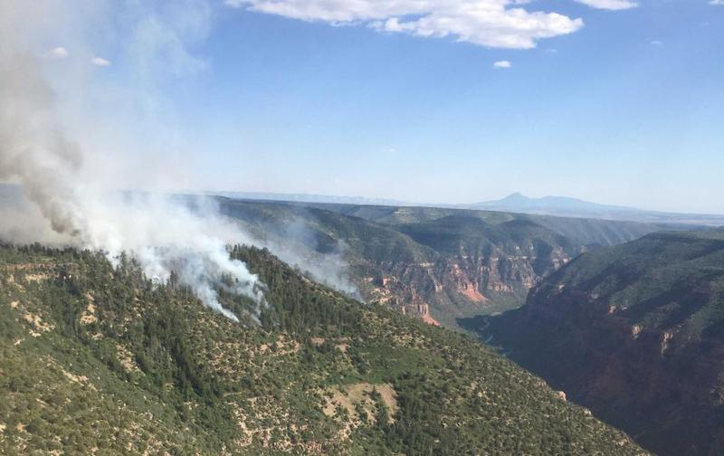 The fire on the East Rim in Colorado has doubled in size Wednesday, growing to 300 acres.