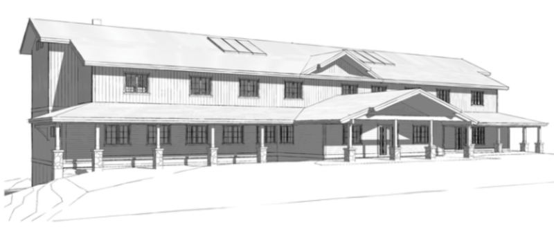 A sketch of what the new 32-bed treatment facility will look like.