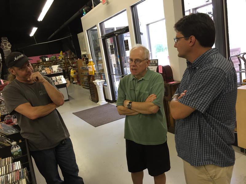 Co-owner Bruce Bennett, store manager Chris Gleason, talk to Morning Edition host Rick Ganley.