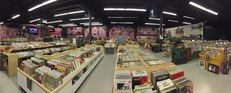 The owners of Thrifty's Second Hand Stuff in Manchester estimate they have 100,000 records on hand.