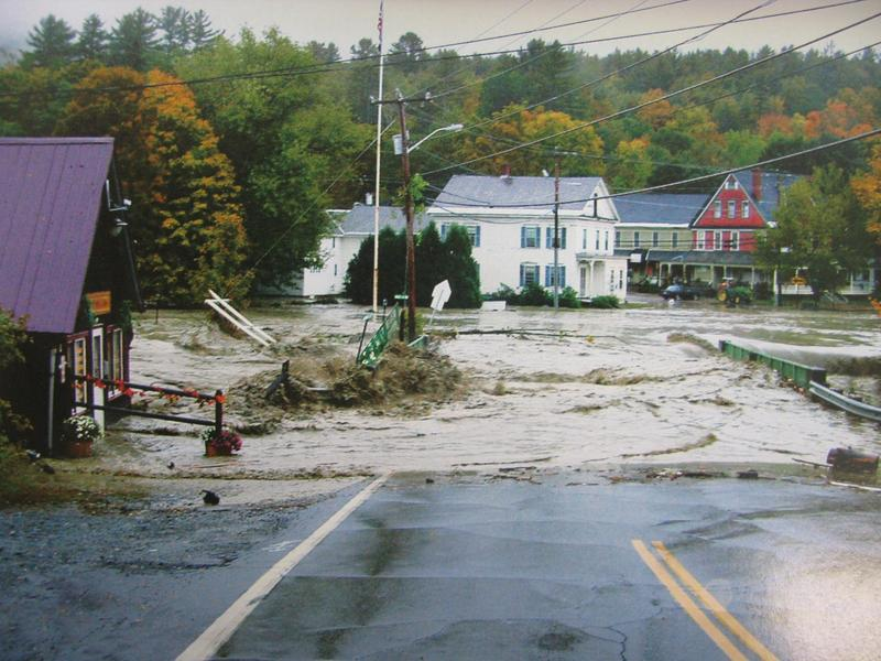Flooding in Alstead in 2005.