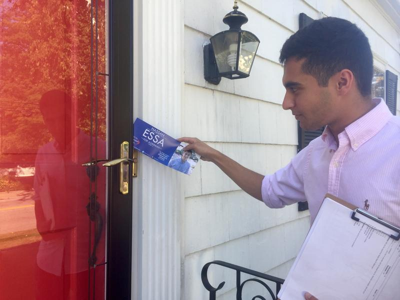 Since he launched his campaign in July,  Hassan Essa has been knocking on doors throughout the neighborhood.