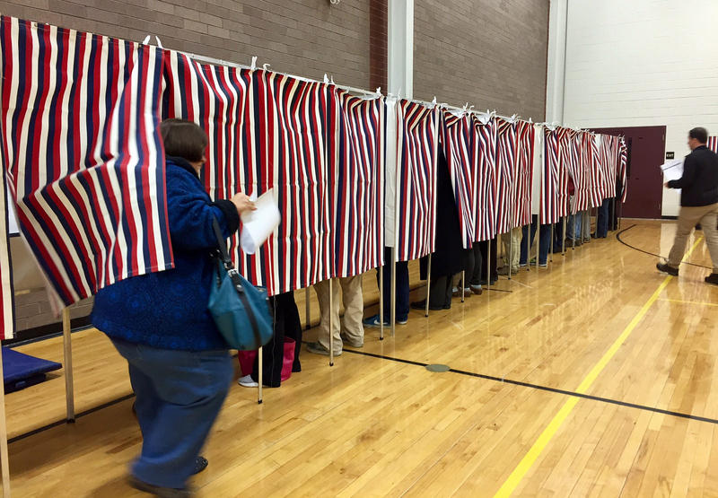 Voters cast ballots in Hollis