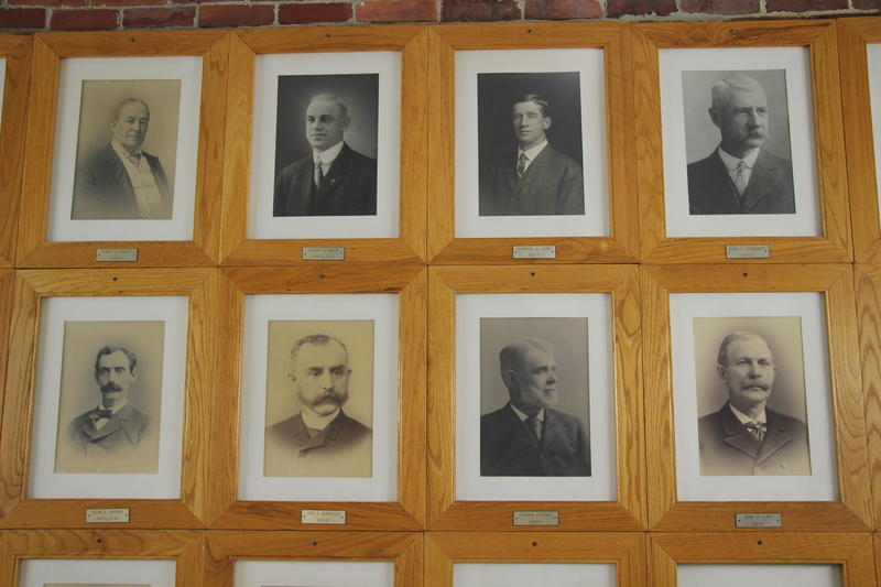 Portraits in the stairwell at Concord City Hall.