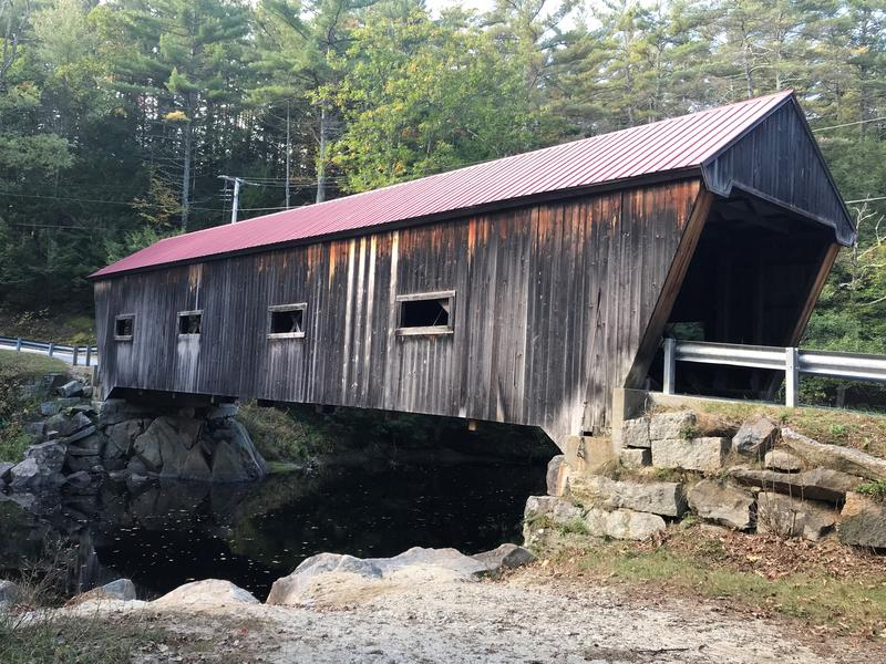 The Dalton in Warner, NH is watercolor artist Conrad Young's favorite covered bridge in the state.