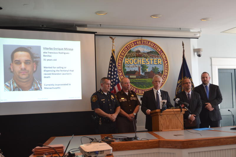 N.H. Attorney General Gordon MacDonald announces charges Tuesday against a Massachusetts drug dealer accused of causing the death of a Rochester man.