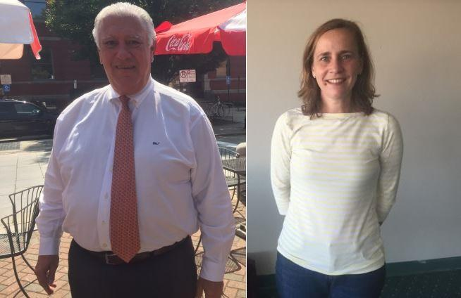 Incumbent Manchester Mayor Ted Gatsas (left) and Democrat and former alderman Joyce Craig (right).