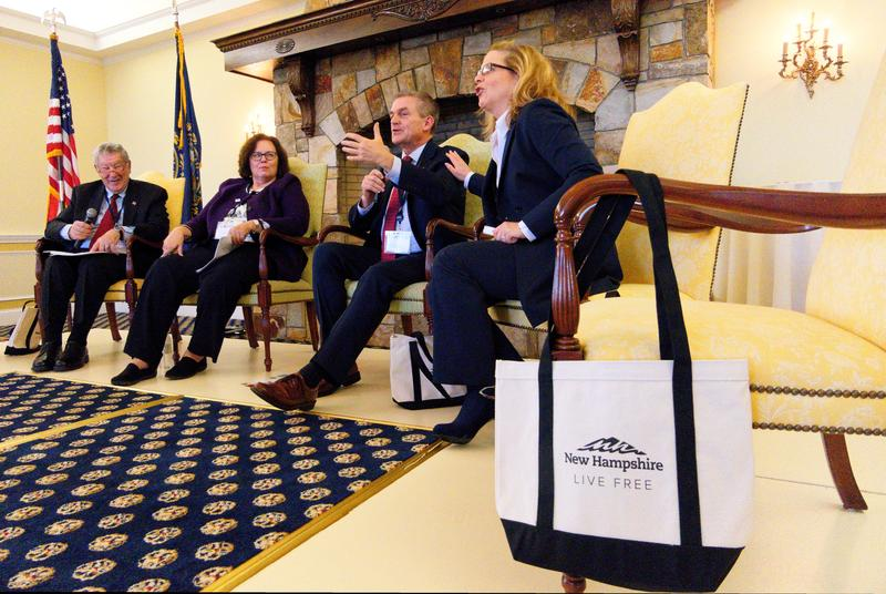 From left: State Sen. Lou D'Allesandro; Mary-Estelle Ryckman, formerly of the Office of the United States Trade Representative; David Alward, Canadian Consul General to New England; Marie-Claude Francoeur of the Government of Quebec's office in Boston