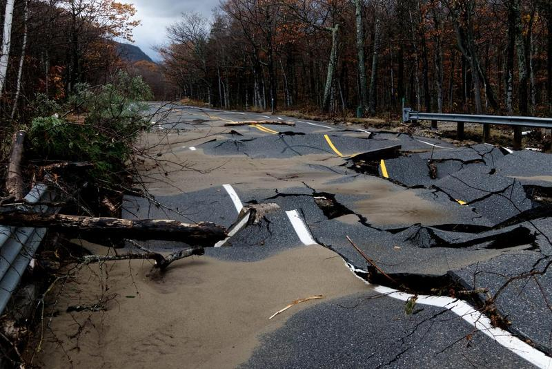 Part of Route 302 after the storm.