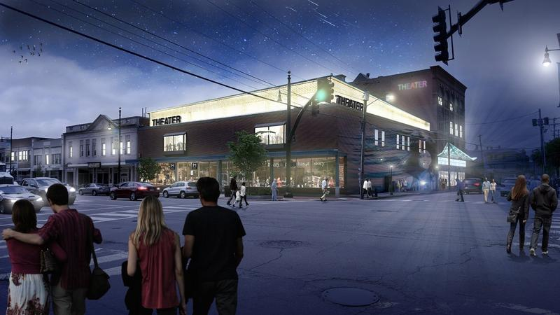 A picture of the art center proposal for downtown Nashua at the former Alec's Shoes Store on Main Street.