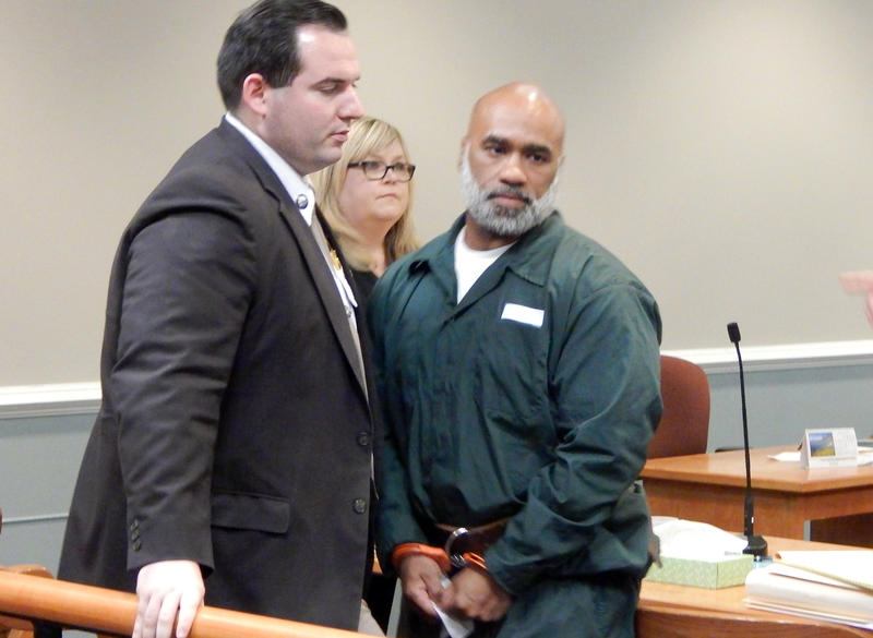 Eduardo Lopez Jr. leaves the court room after the first day of his resentencing hearing in Nashua. He's now 43.