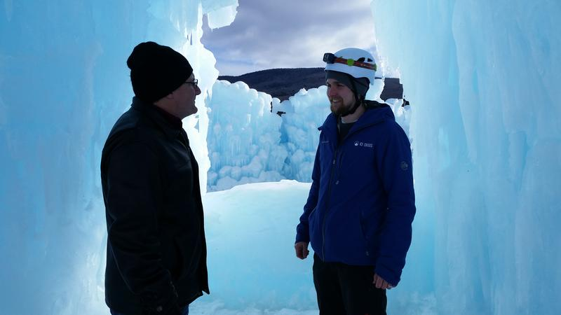 The ice castles span over an acre in Lincoln.