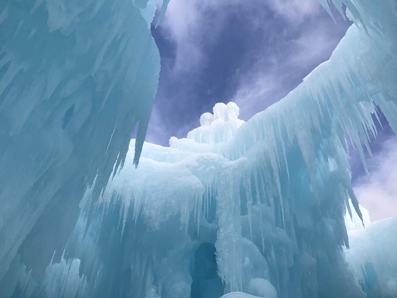 Time, water, and patience - the ice structures reach the sky.