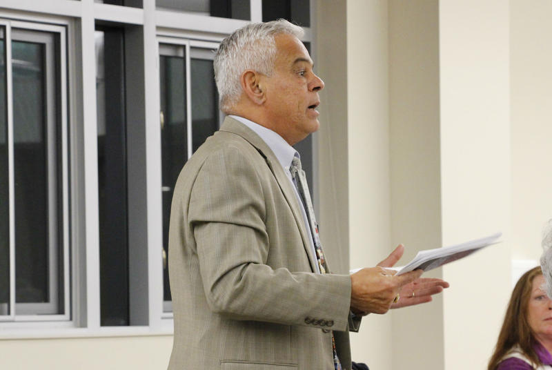 Rep. Al Baldasaro speaks at a meeting of the State Veterans Advisory Committee on Tuesday, Jan. 9, 2018.