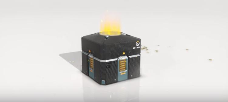 Screen shot of a loot box from the popular game 'Overwatch'