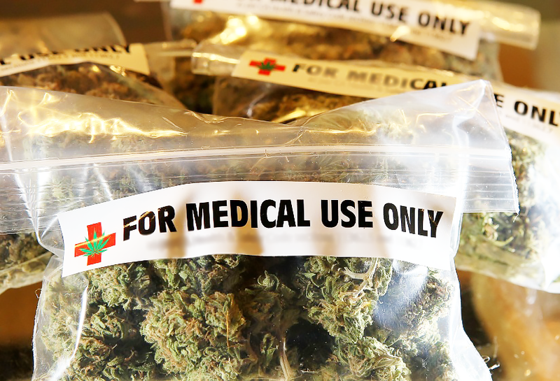 Packages of medical marijuana at a California dispensary