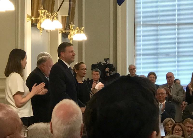 Governor Chris Sununu at the New Hampshire State House Thursday