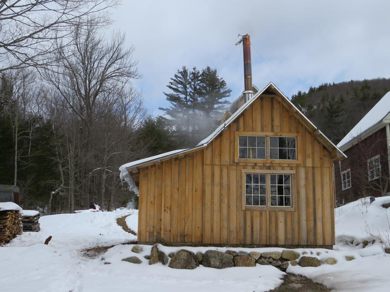 Tree farmer Dave Anderson built a sugar shack in his front yard about two years ago.