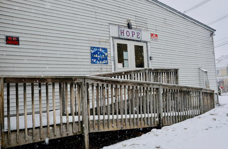 The former Hope for New Hampshire location in Claremont, where local and state officials are scrambling to resume drug recovery services.