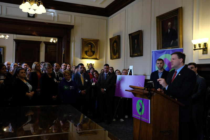 Local business and drug recovery leaders packed the Executive Council chambers for Governor Chris Sununu's announcement Tuesday.