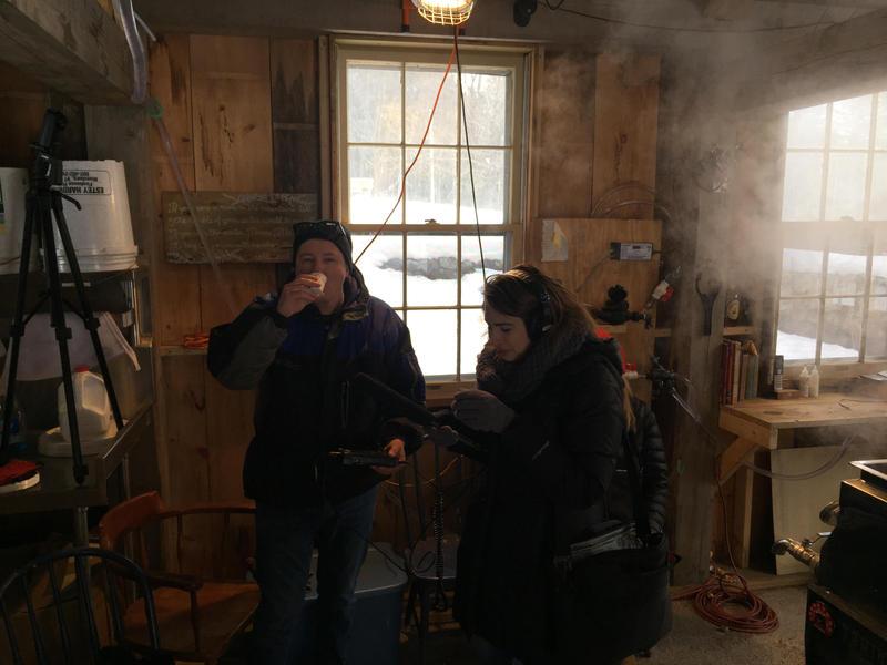 Rick and Mary sample syrup