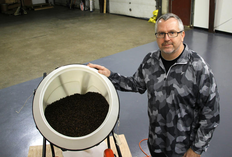 Glen Miller of Vera Coffee Roasting at his facility in Newington, N.H.