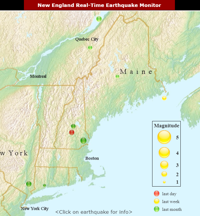 Earthquake map shows seismic activity near Concord, N.H.