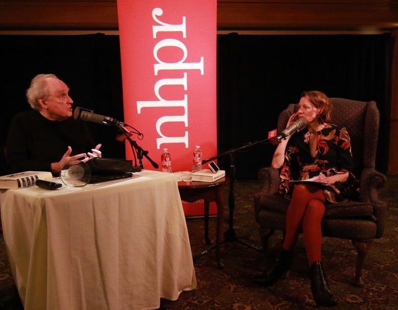 NHPR's Virginia Prescott interviews poet Frank Bidart at the Capitol Center for the Arts.