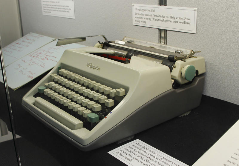 "Mario Puzo's typewriter, which was likely used to write early drafts of ""The Godfather."""