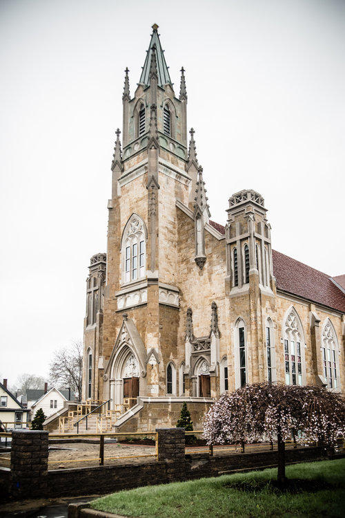 Sacred Heart Church, Concord. Jonathan Chorlian for the rescue and adaptive use of the Sacred Heart Church for Bienvenue Condominiums, Concord. Creative solution for major landmark at risk.