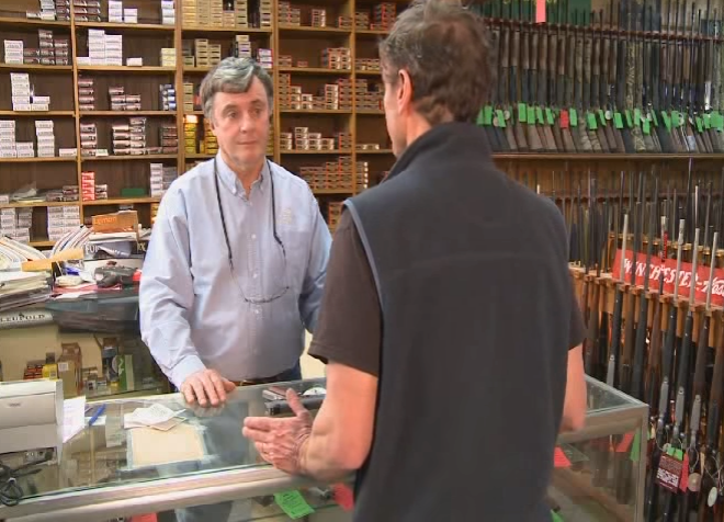 "Ralph Demicco, former owner of Riley's Gun Shop in Hooksett, has teamed up with public health experts to broaden suicide prevention efforts. Here, he's featured in a 2011 video about the launch of the ""Gun Shop Project."""