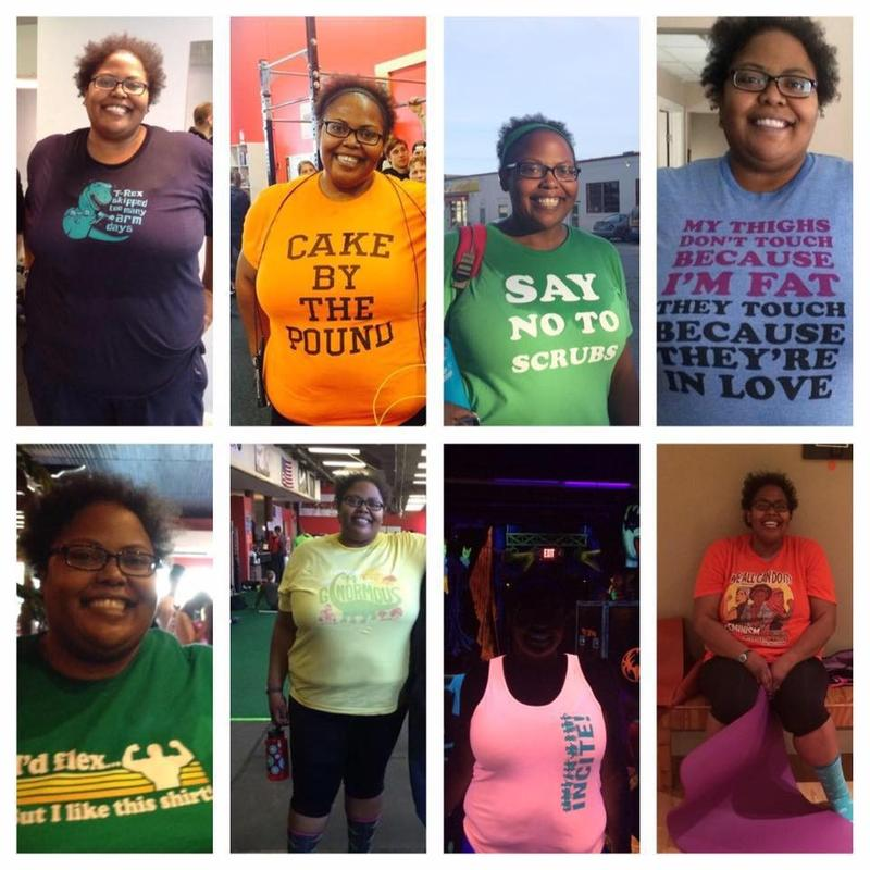 Courtney Marshall and her motivational t-shirts