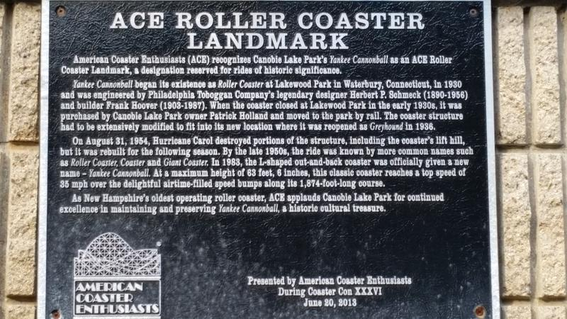 The Yankee Cannonball is certified as a historic, wooden roller coaster.