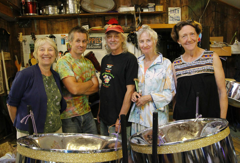Mango Groove members during a rehearsal in Conway, N.H.