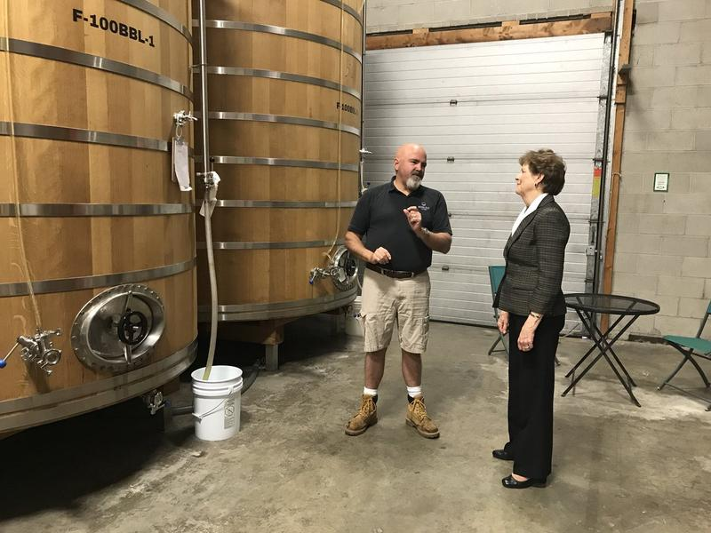 Senator Jeanne Shaheen visits Moonlight Meadery in Londonderry