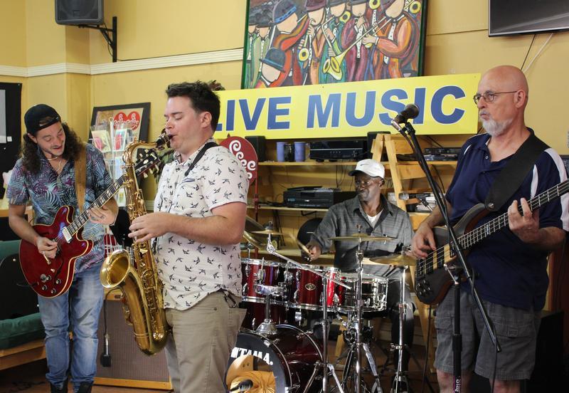 BooBoo Groove. Left to right: Nathaniel Grant, Curtis Arnett, Luke Moss, and Arnie Ashford.