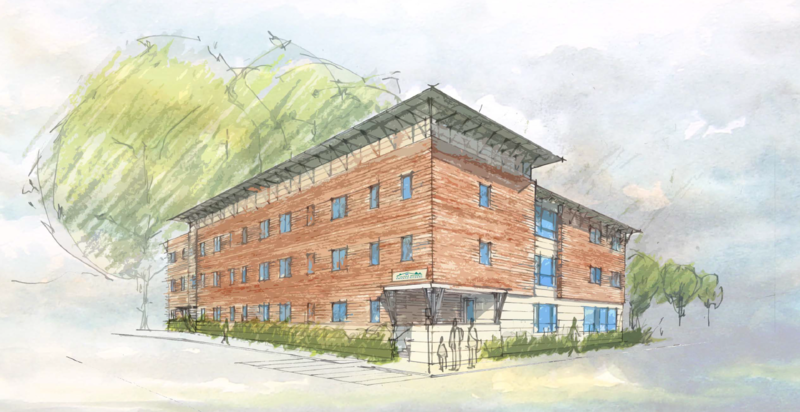 A rendering of a new 29-unit affordable housing development in Lebanon.