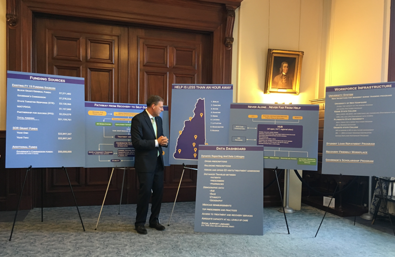 """Nine regional """"hubs"""" will serve as anchors of a new system of coordinated services and care, Governor Sununu said Wednesday."""