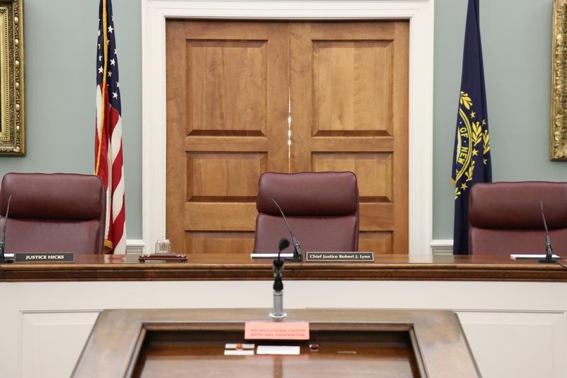 New Hampshire Supreme Court in Concord, Chief Justice Robert J. Lynn presiding.