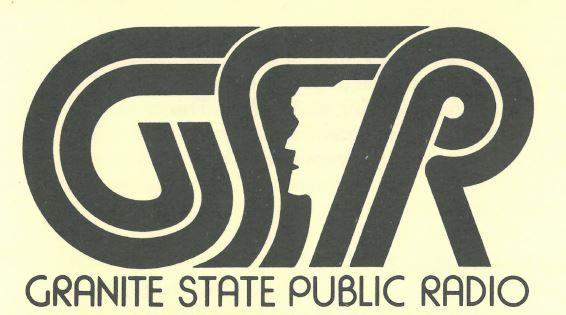 The first logo designed for NHPR in 1979, when the organizing committee was known as Granite State Public Radio.