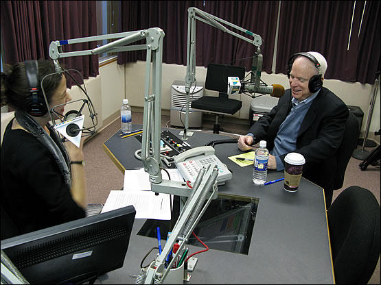 Sen. John McCain, R-Arizona, appearing on NHPR's The Exchange with Laura Knoy.