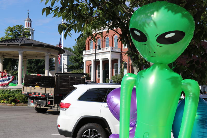 Downtown Exeter during the UFO Festival
