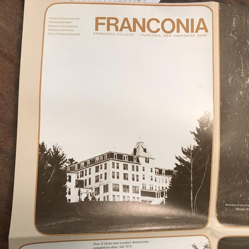 Franconia College printed material