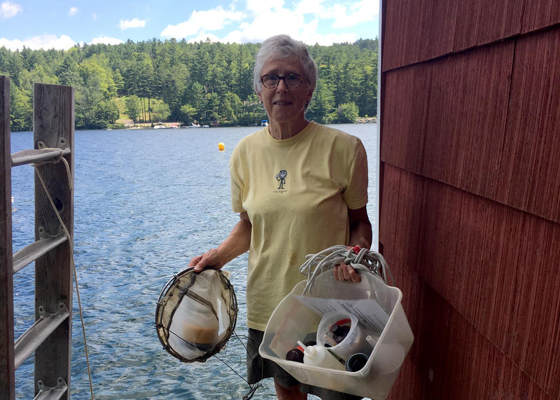 Midge Eliassen, a resident on Lake Sunapee, has been taking daily samples of the lake for years, working with scientists at nearby research institutions. Her dataset is internationally recognized for its breadth and consistency, researchers say.