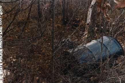 The first barrel discovered in the woods of Allenstown, NH in 1985, which contained two sets of remains.