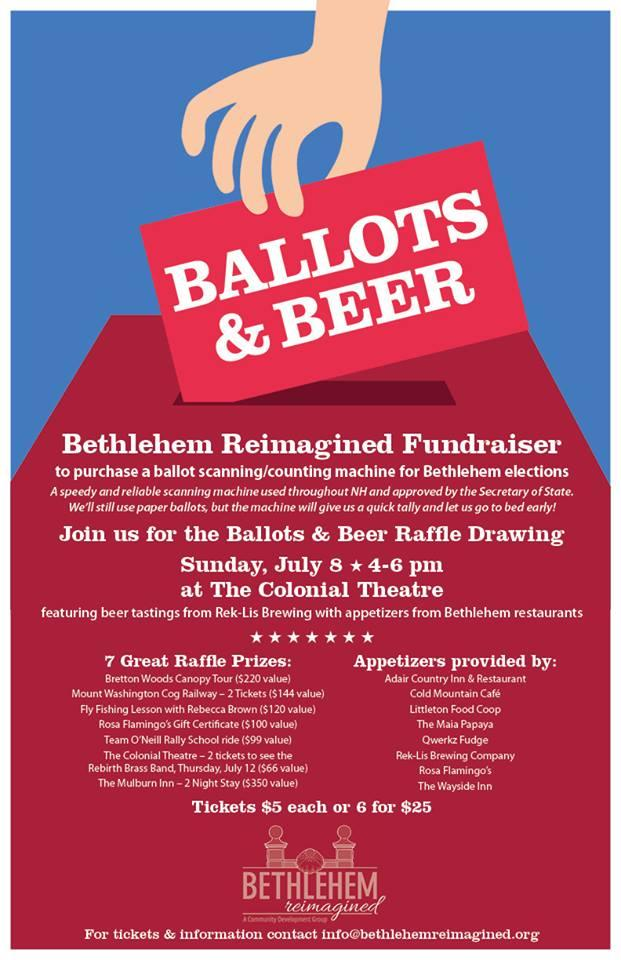 """A centerpiece of the fundraising campaign for the new machines was an event called """"Ballots and Beer,"""" hosted at the historic local Colonial Theatre earlier this year."""