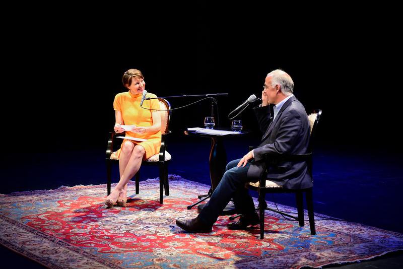 David Brooks talks with Virginia Prescott