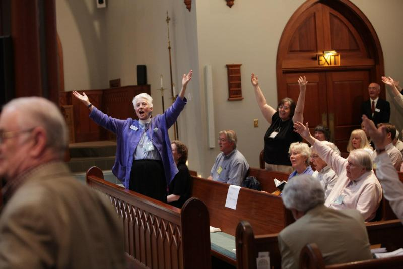 Episcopalians react to the news that Robert Hirschfeld accepted the nomination to Bishop of the New Hampshire dioceses